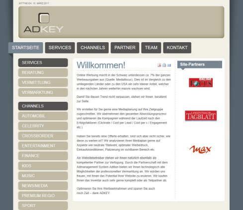 Adkey   Adkey   Online Marketing  Online Strategie  Media Audit  Mediaeinkauf ADKEY GmbH Öffnungszeit