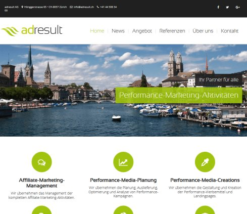 Affiliate  und Performance Marketing Agentur Schweiz | adresult AG adresult AG Öffnungszeit