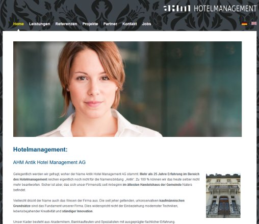 Hotelmanagement: AHM Antik Hotel Management AG AHM Antik Hotel Management AG Öffnungszeit