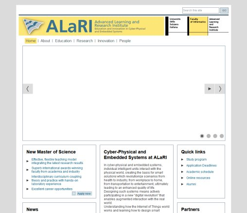 ALaRI: embedded systems design since 1999 | ALaRI   Advanced Learning and Research Institute  Öffnungszeit