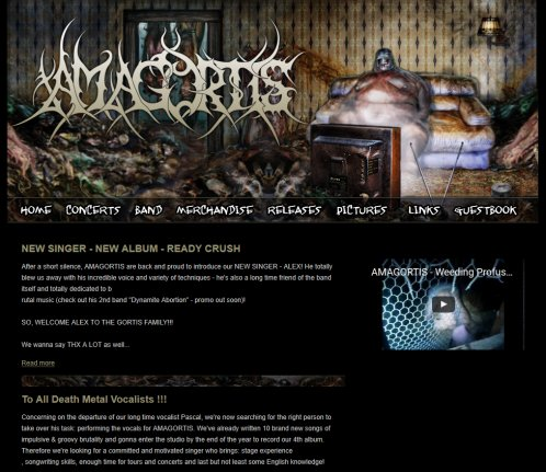 AMAGORTIS   OFFICIAL WEBSITE OF SWISS UNDERGROUND BRUTALITY  Öffnungszeit