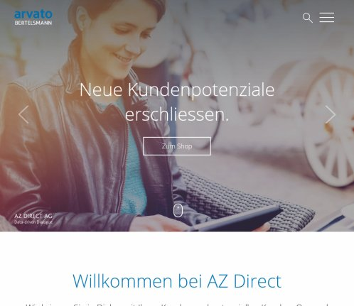 AZ Direct | CRM  Direct Marketing  Adressen  Marketing Beratung AZ Direct AG Öffnungszeit