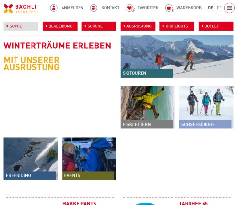 dd56e52fdea4a Bächli Bergsport Bächli Bergsport Bächli Bergsport AG Öffnungszeit