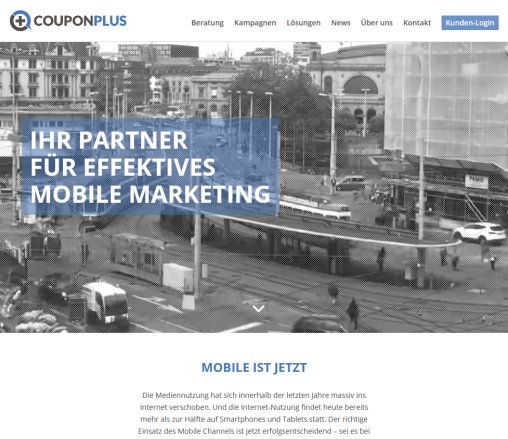CouponPlus   Mobile Coupons  Responsive Landingpages  Online Marketing CouponPlus AG Öffnungszeit