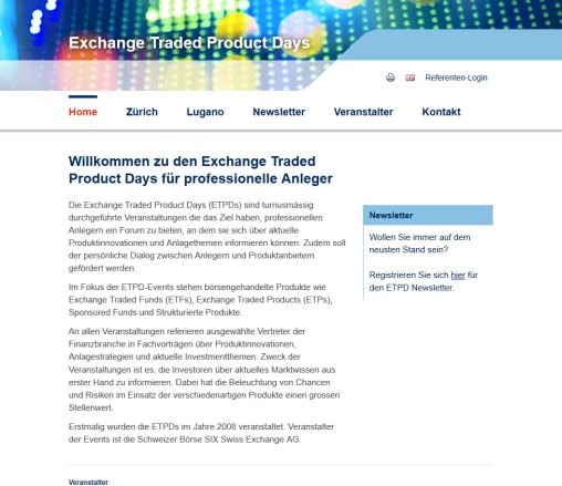 ETPD | SIX Structured Products Exchange AG | SIX Swiss Exchange AG | etpd.ch SIX Structured Products Exchange AG Öffnungszeit