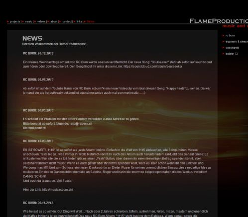 Flame Productions  News RC Burn  Öffnungszeit