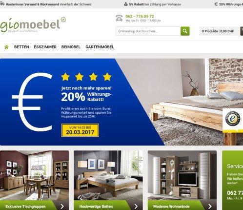 ᐅ Gio Möbel Online Shop Für Chf Nebikon 2019