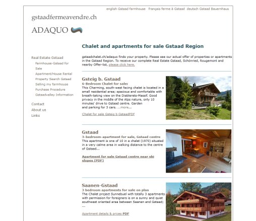 Gstaad Real Estate for sale  Öffnungszeit