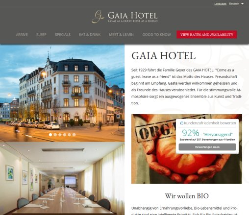 GAIA HOTEL | Come as a guest  leave as a friend  Öffnungszeit