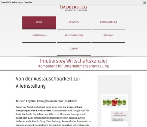 imoberstegpartner strategie konzeption analyse umsetzung realisation wirtschaftsmediation mediation ad interim marketing kommunikation industrievertretung wirtschaftskanzlei  Öffnungszeit