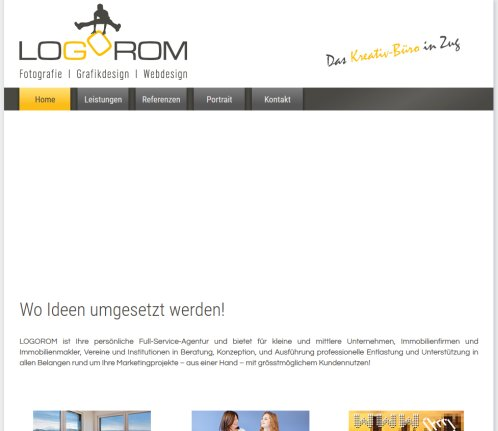 LOGOROM   Marketing Services l Grafik Design l Web Design l Fotografie in Zug  Öffnungszeit