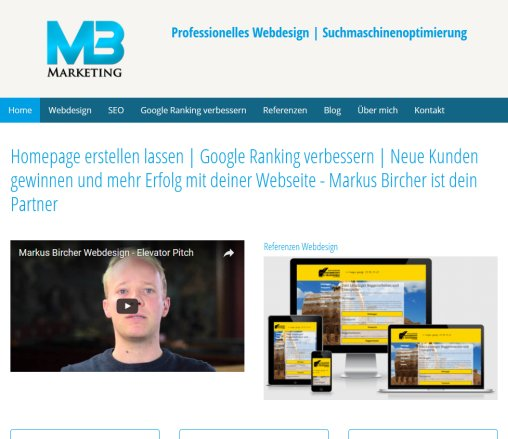 Homepage erstellen   Markus Bircher Webdesign  Online Marketing   www.mb marketing.ch  Öffnungszeit