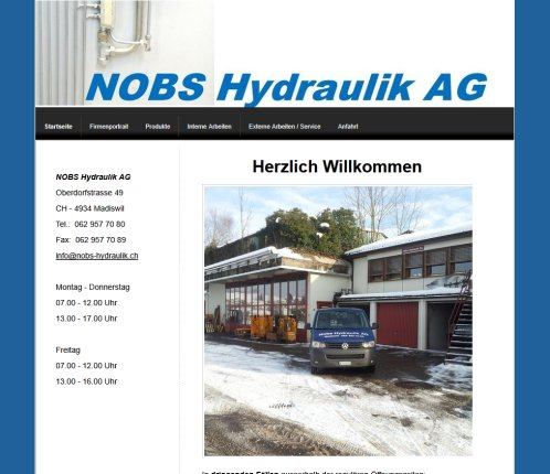 Nobs Hydraulik Revisionen und Service in Madiswil  Langenthal  Solothurn  Bern   Nobs Hydraulik AG  Madiswil  Langenthal  Bern NOBS Hydraulik AG Öffnungszeit