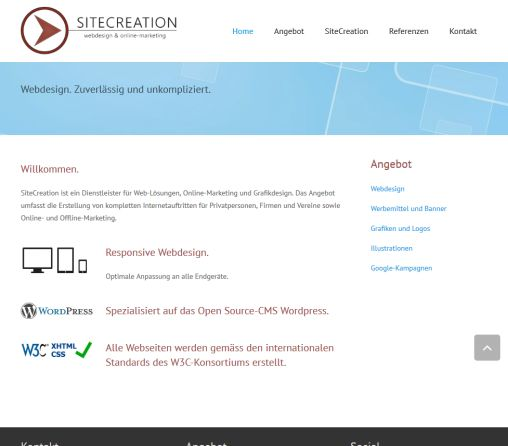 SITECREATION Webdesign Thun  Öffnungszeit