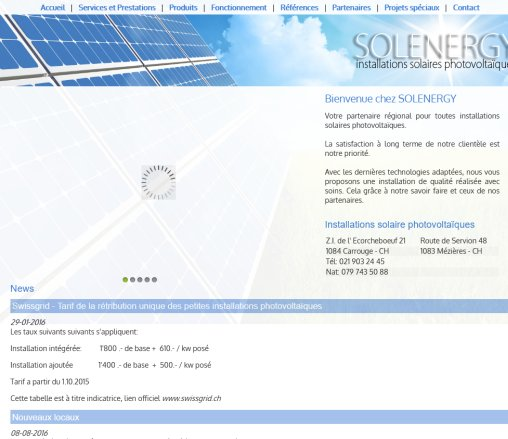 SOLENERGY | Installations Solaires Photovoltaïques: Home  Öffnungszeit