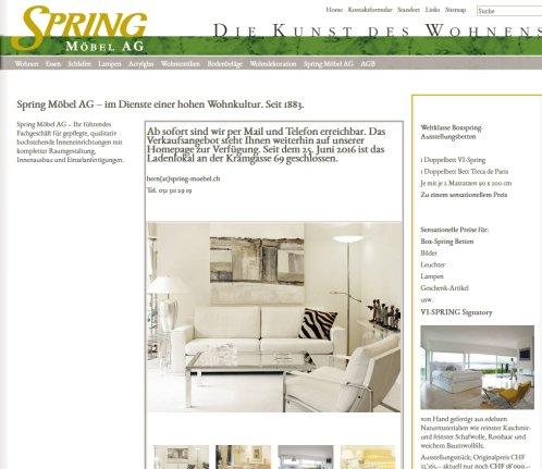 Spring Möbel: Home Spring Möbel › Möbel Bern 2019