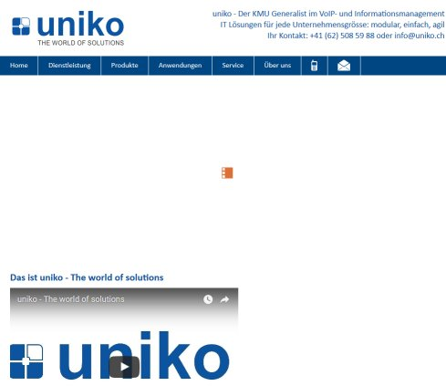 uniko - The world of solutions Öffnungszeit