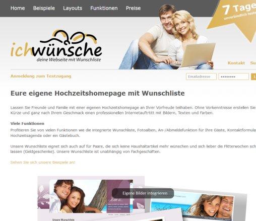 ichwnschecom ihre hochzeitshomepage mit wunschliste anschriftmedia eberhard co ffnungszeit - Hochzeitshomepage Beispiele