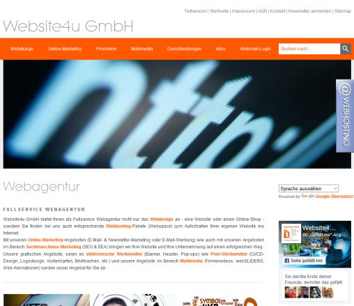 Webagentur Website4u GmbH   Website  Webdesign  Online Marketing  SEO  Öffnungszeit